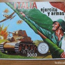 Figuras de Goma y PVC: MONTAPLEX-EJERCITO Y ARMAS ITALIA NUMERO 3003 SOBRE VACIO. Lote 108329727