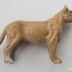Figuras de Goma y PVC: ELASTOLIN-LEONA DE PLASTICO RIGIDO. Lote 108444627