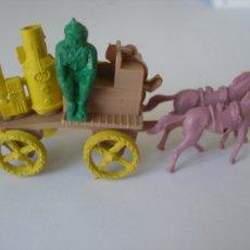 Figuras de Goma y PVC - Carreta bomberos Montaplex kiosko años 70 , Sin uso - 108445102