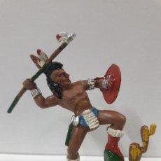 Figuras de Goma y PVC: GUERRERO INDIO . REALIZADO POR LAFREDO . AÑOS 60. Lote 108733875