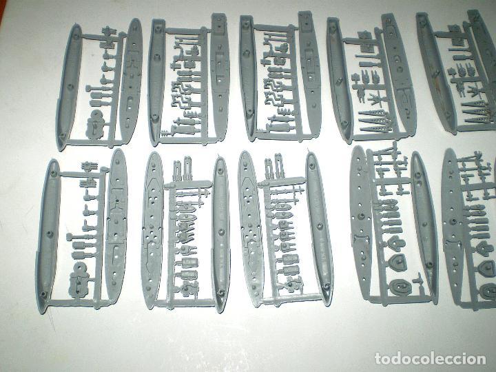 Figuras de Goma y PVC: FLOTILLA MONTAPLEX - 14 BARCOS EN COLOR ARMADA - Foto 3 - 178734883