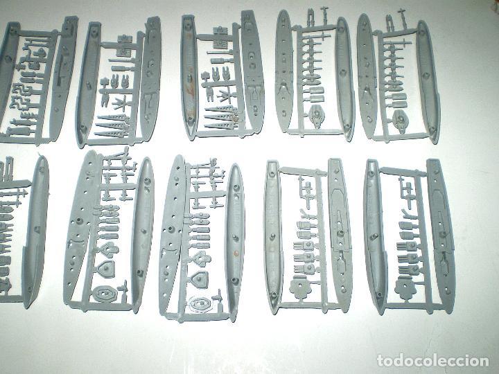 Figuras de Goma y PVC: FLOTILLA MONTAPLEX - 14 BARCOS EN COLOR ARMADA - Foto 2 - 178734883