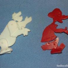 Figuras de Goma y PVC: LOTE FIGURAS ARTICULADAS DISNEY DETERGENTE OMO DUNKIN ORIGINALES AÑOS 60 LOTE 3. Lote 108813423