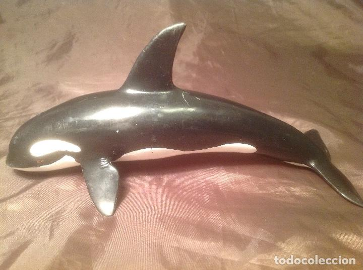 FIGURA ORCA SCHLEICH ANTIGUA 1995 CON FALTAS DE PINTURA (Juguetes - Figuras de Goma y Pvc - Schleich)