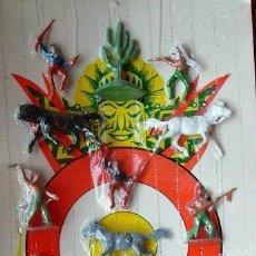 Figuras de Goma y PVC: ANTIGUO CARTÓN Y FIGURAS PECH HNOS. Lote 109082391