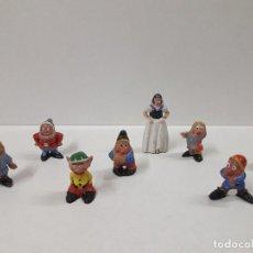 Figuras de Goma y PVC: BLANCA NIEVES Y LOS SIETE ENANITOS . REALIZADOS POR PECH . AÑOS 50 EN GOMA. Lote 109154087