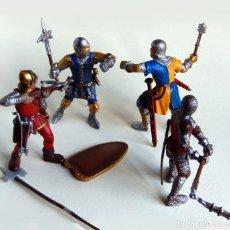 Figuras de Goma y PVC Schleich: 4 GUERREROS MEDIEVALES DE LA PRESTIGIOSA MARCA SCHLEICH. Lote 109165751