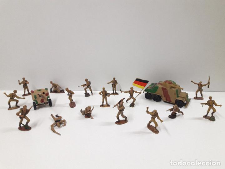 Figuras de Goma y PVC: COLECCION COMPLETA DEL AFRICA KORPS . REALIZADA POR PECH . AÑOS 60 - Foto 2 - 109182555