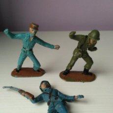 Figuras de Goma y PVC: LOTE 3 FIGURAS PVC COMASI SOLDADO ESPAÑOL CUBANO EPOCA REAMSA JECSAN PECH TEIXIDO. Lote 109201671