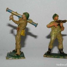 Figuras de Goma y PVC: LOTE DE 2 AMERICANOS DE PECH, II GUERRA MUNDIAL, PLASTICO, TAL COMO SE VEN EN LAS FOTOS. Lote 109304147