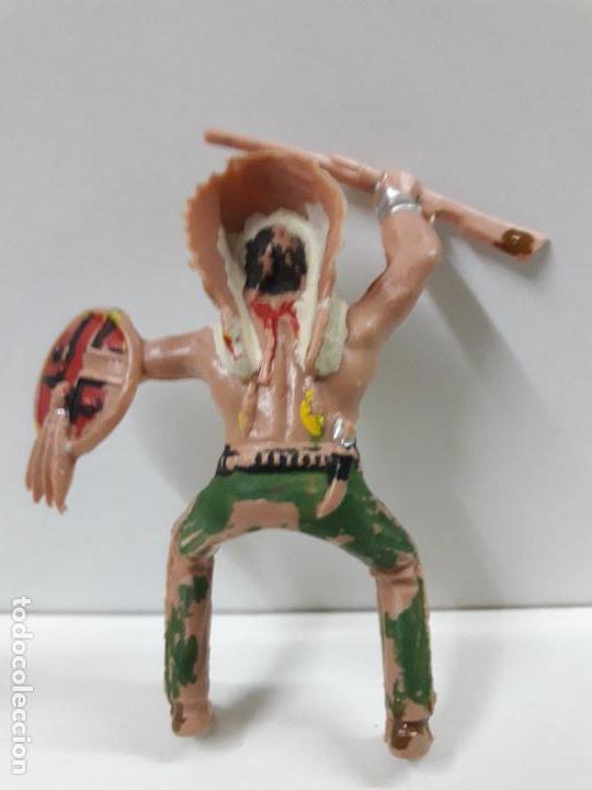 Figuras de Goma y PVC: JEFE INDIO PARA CABALLO - SERIE INDIOS SIOUX . REALIZADO POR REAMSA . AÑOS 60 - Foto 2 - 109386791