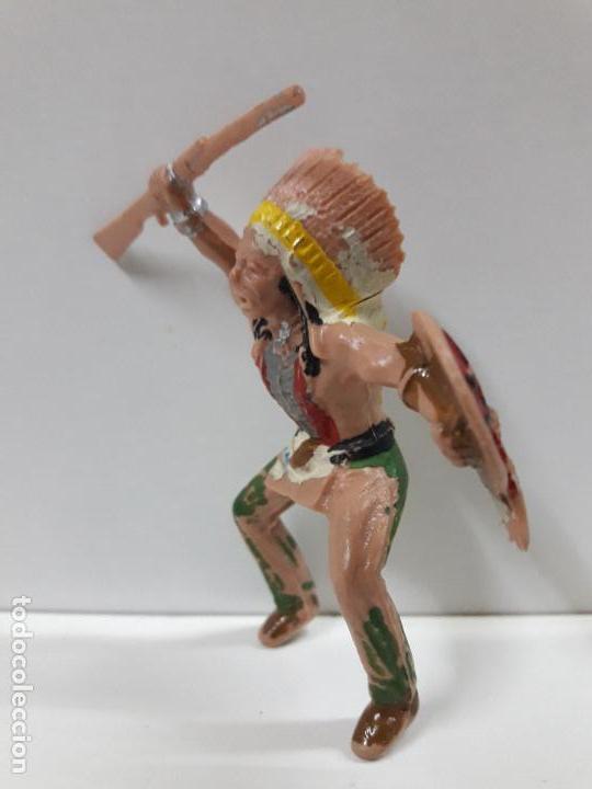 Figuras de Goma y PVC: JEFE INDIO PARA CABALLO - SERIE INDIOS SIOUX . REALIZADO POR REAMSA . AÑOS 60 - Foto 3 - 109386791