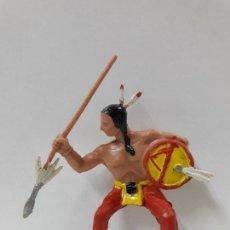 Figuras de Goma y PVC: GUERRERO INDIO PARA CABALLO - SERIE INDIOS SIOUX . REALIZADO POR REAMSA . AÑOS 60. Lote 109386967