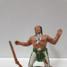 Figuras de Goma y PVC: GUERRERO INDIO - SERIE INDIOS SIOUX . REALIZADO POR REAMSA . AÑOS 60. Lote 109388895