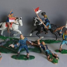 Figuras de Goma y PVC: CUSTER - BATALLA LITTLE BIG HORN - REAMSA, 7 US CABALLERÍA, SERIE OESTE SOLDADOS FEDERALES YANKEE. Lote 91638945