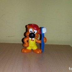 Figuras de Goma y PVC: FIGURA CASTOR ROEDOR CON CEPILLO DE DIENTES MARCA BULLY AÑOS 80 PROMOCION. Lote 109449359