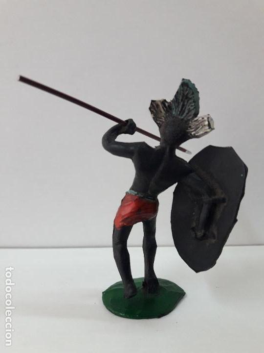 Figuras de Goma y PVC: GUERRERO AFRICANO NEGRO . REALIZADO POR ARCLA . AÑOS 50 EN GOMA - Foto 3 - 109815919