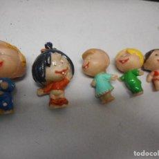 Figuras de Goma y PVC: MUÑECOS FAMILIA TELERIN ,PLASTICO DURO , EL MAYOR MIDE 6 CM. Lote 139784318