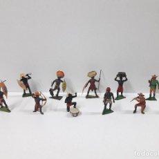 Figuras de Goma y PVC: COLECCION DE FIGURAS DEL SAFARI . REALIZADAS POR JECSAN . AÑOS 50 EN GOMA. Lote 110138159