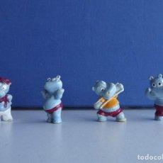 Figuras Kinder: 4 FIGURAS FERRERO KINDER HIPOPÓTAMO. Lote 110155123