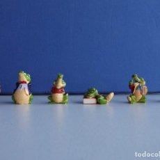 Figuras Kinder: 6 FIGURAS FERRERO KINDER LAGARTO. Lote 110155151