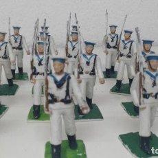 Figuras de Goma y PVC: ANTIGUAS FIGURITAS DESFILE REAMSA MARINEROS. Lote 110174247