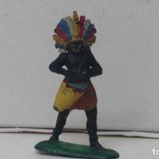 Figuras de Goma y PVC: ANTIGUA FIGURA DE PECH HERMANOS EN GOMA AÑOS 50 NEGRO TAMBOR. Lote 110182171
