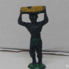 Figuras de Goma y PVC: ANTIGUA FIGURA DE PECH HERMANOS EN GOMA AÑOS 50 NEGRO PORTEADOR. Lote 110182227