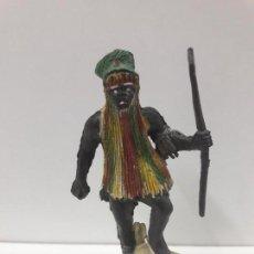 Figuras de Goma y PVC: GUERRERO - BRUJO AFRICANO KAKUANA . REALIZADO POR PECH . AÑOS 50 EN GOMA. Lote 110183651