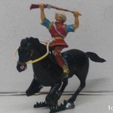Figuras de Goma y PVC: ANTIGUA FIGURA DE ESTEREOPLAST A CABALLO MUY DIFICIL. Lote 110184651