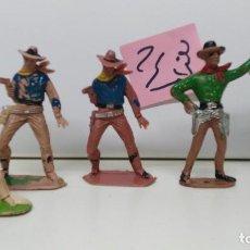 Figuras de Goma y PVC: ANTIGUO LOTE DE SOLDADOS COMANSI VAQUEROS. Lote 110373299