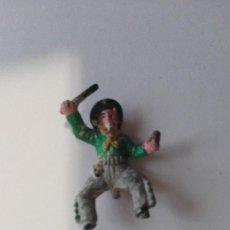 Figuras de Goma y PVC: CONDUCTOR CARAVANA GOMA AÑOS 50. Lote 110552143