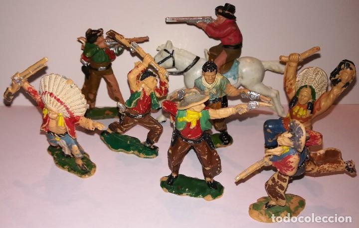 FIGURAS DE PLÁSTICO REAMSA INDIOS COWBOYS (Juguetes - Figuras de Goma y Pvc - Reamsa y Gomarsa)