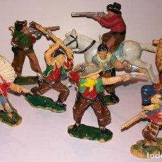 Figuras de Goma y PVC: FIGURAS DE PLÁSTICO REAMSA INDIOS COWBOYS. Lote 110628783
