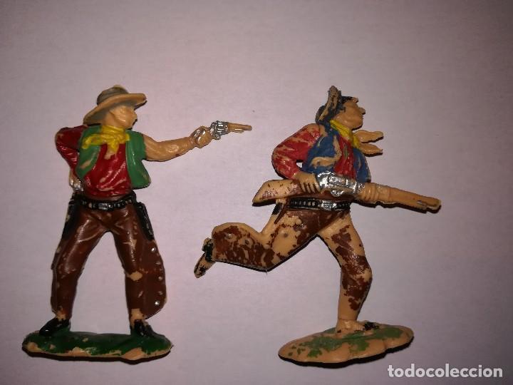 Figuras de Goma y PVC: FIGURAS DE PLÁSTICO REAMSA INDIOS COWBOYS - Foto 4 - 110628783
