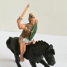 Figuras de Goma y PVC: FIGURA ROMANO REAMSA Y CABALLO JECSAN DE PLÁSTICO REAMSA SERIE LEGIONES ROMANAS. Lote 110632035