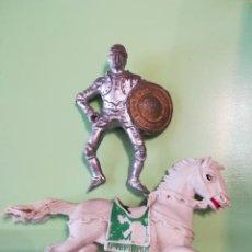 Figuras de Goma y PVC: CABALLERO MEDIEVAL Y CABALLO EN PLÁSTICO JECSAN SERIE CABALLEROS. Lote 110645979
