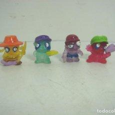 Figuras de Goma y PVC: 4X MINI FIGURAS GOMA BLANDA GEL - MBIT - FIGURA . Lote 110809815