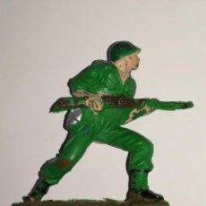 Figuras de Goma y PVC: FIGURA PECH OLIVER SERIE GUERRA MUNDIAL SOLDADO AMERICANO. Lote 110928451