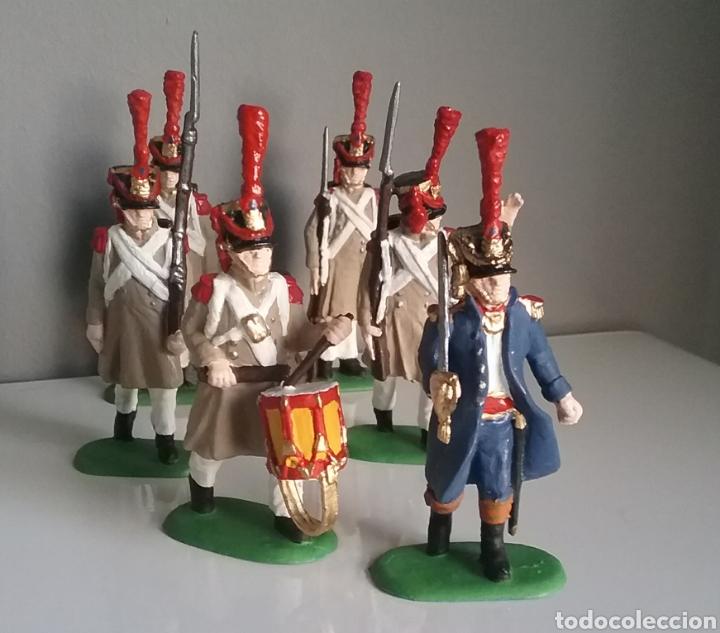 Figuras de Goma y PVC: Soldados napoleónicos franceses de infanteria (Grenadiers) de HAT, compat.Airfix en escala Britains - Foto 3 - 111042702