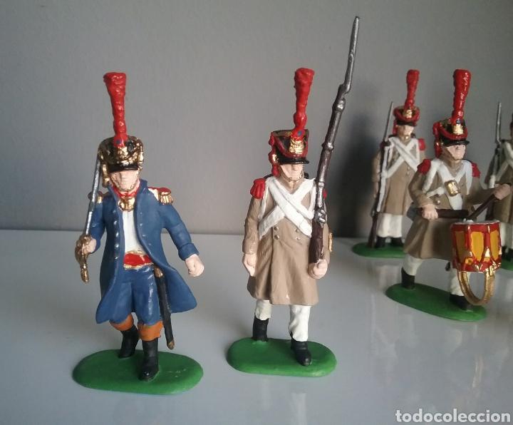 Figuras de Goma y PVC: Soldados napoleónicos franceses de infanteria (Grenadiers) de HAT, compat.Airfix en escala Britains - Foto 4 - 111042702
