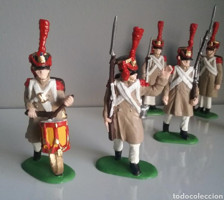 Figuras de Goma y PVC: Soldados napoleónicos franceses de infanteria (Grenadiers) de HAT, compat.Airfix en escala Britains - Foto 5 - 111042702