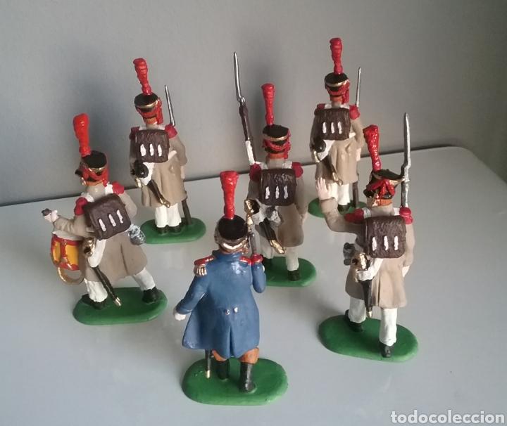 Figuras de Goma y PVC: Soldados napoleónicos franceses de infanteria (Grenadiers) de HAT, compat.Airfix en escala Britains - Foto 7 - 111042702