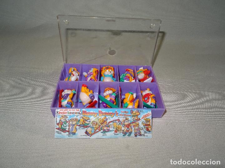 ANTIGUA COLECCIÓN COMPLETA HANNY BUNNY DE KINDER EN CAJA COLECCIONISTA - AÑO 1996 (Juguetes - Figuras de Gomas y Pvc - Kinder)