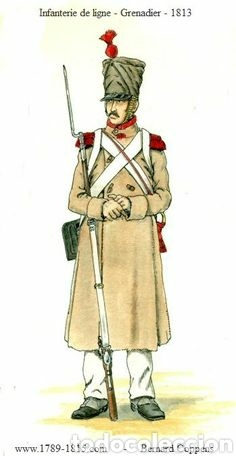 Figuras de Goma y PVC: Soldados napoleónicos franceses de infanteria (Grenadiers) de HAT, compat.Airfix en escala Britains - Foto 8 - 111042702