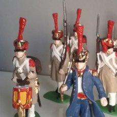 Figuras de Goma y PVC: SOLDADOS NAPOLEÓNICOS FRANCESES DE INFANTERIA (GRENADIERS) DE HAT, COMPAT.AIRFIX EN ESCALA BRITAINS. Lote 111042702