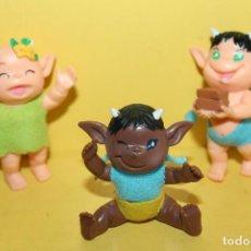 Figuras de Goma y PVC: 3 FIGURAS ELFO DUENDE DIABLILLO - MARCADOS OFF. Lote 111227223