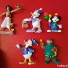 Figuras de Goma y PVC: LOTE 5 FIGURA DE GOMA O PVC WALT DISNEY BULLY BULLYLAND 1992 MATTEL ALADDIN PATO DONALD MICKEY. Lote 111291975
