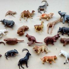 Figuras de Goma y PVC: ANIMALES DE PLASTICO LOTE DE 21 ANIMALES DE GRAN DENSIDAD, LOS DE LA FOTO. Lote 111326604