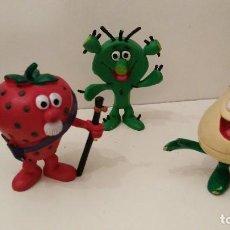 Figuras de Goma y PVC: FRUITTIS - LOS FRUITTIS - CACTUS -FRESON -NABO - COMICS SPAIN. Lote 111380175